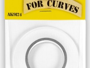 AK-9124 AK INTERACTIVE MASKING TAPE FOR CURVES 3 MM