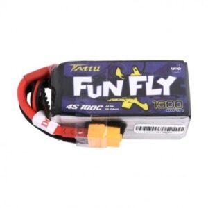 448331 1300mAh 14,8V 100C 4S1P Tattu by Gens ACE Batteria LiPo Funfly Series