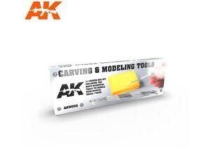 AK9005 Utensili per incidere e scolpire (4 pezzi) AK INTERACTIVE