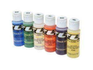 TLR74020 Shock Oil, 6Pk, 20, 25, 30, 35, 40, 45, 2oz TLR LOSI