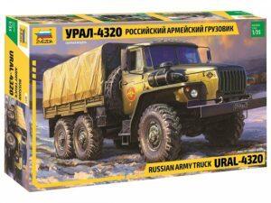 3654 1/35 URAL-4320 Russian Army Truck ZVEZDA
