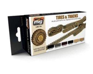 AMIG7105 Set per la pittura di cingoli e ruote AMMO OF MIG