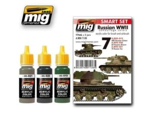 AMIG7136 Set colori RUSSIAN WWII COLORS AMMO OF MIG